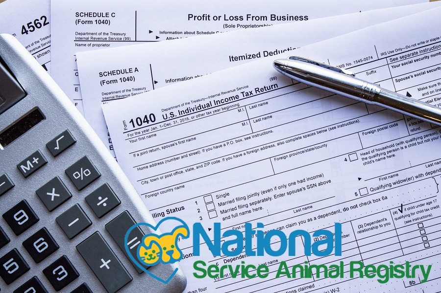 1040 and Schedule A tax forms