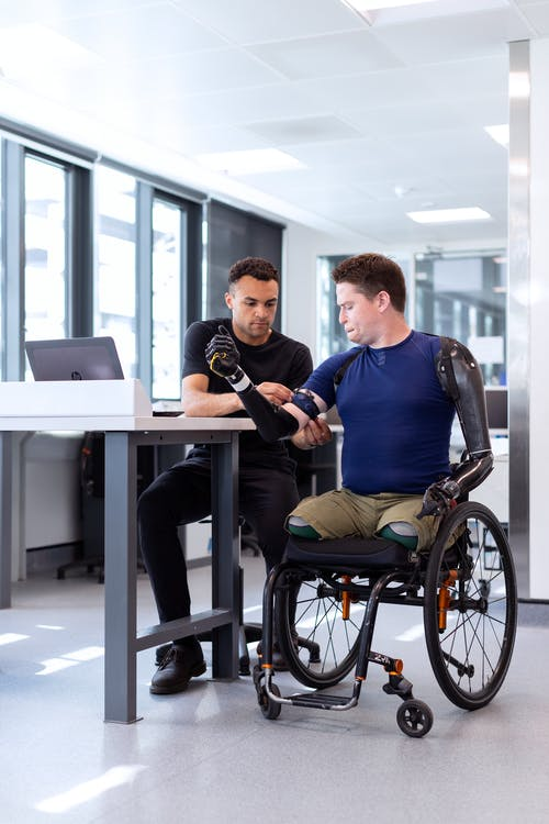 Disability individual in wheelchair
