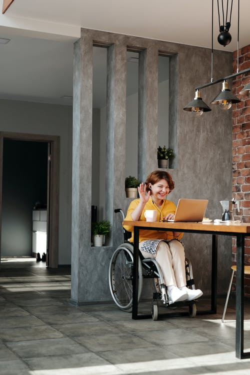 Handicap person in house alone