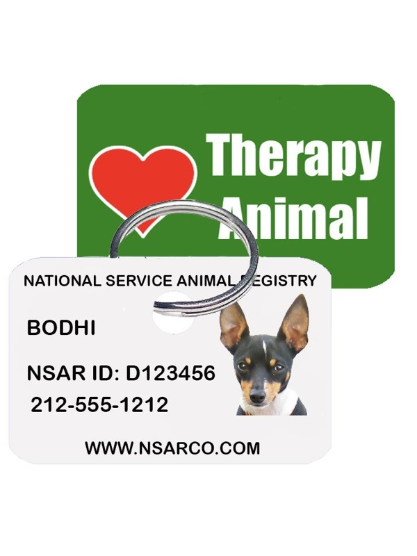 Customized Dog Tag - Therapy Dog