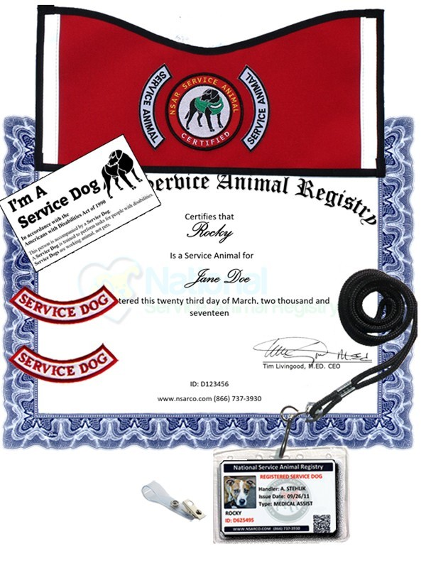 Service Dog Registration - Deluxe Kit