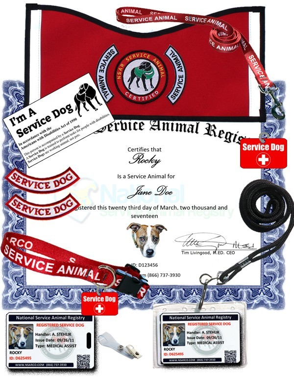 Service Dog Registration - Premium Kit
