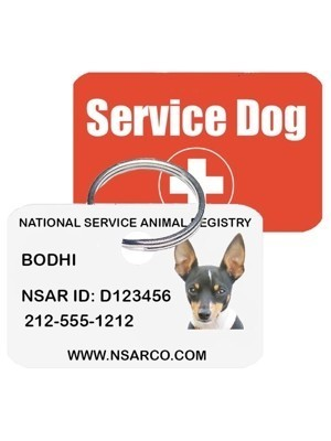 Personalized Service Dog Tag