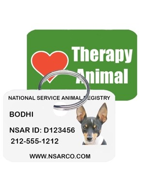 Personalized Therapy Animal Tag