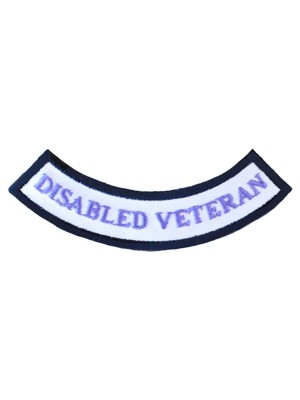 Disabled Veteran Purple Rocker Patch