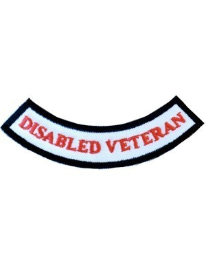 Disabled Veteran Red Rocker Patch