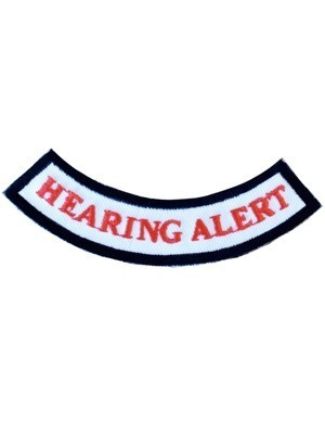 Hearing Alert Rocker Patch
