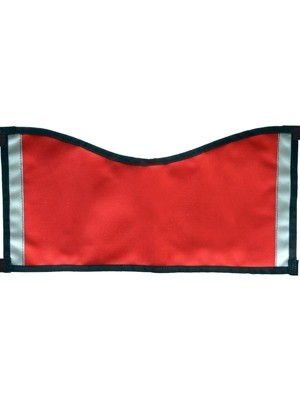 Plain Vest (no patches) - Red