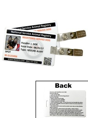 Service Dog ID Cards with Registration