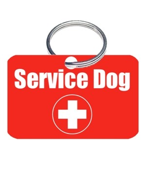 Service Dog Collar ID Tag