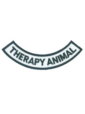 Therapy Animal Rocker Patch