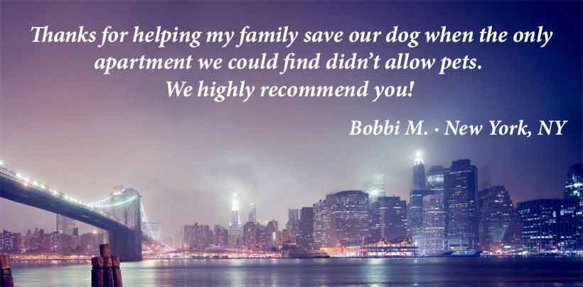 Service Dog Registration Testimonial